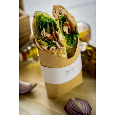 Csirkés wrapp baconnel, tojással és zöldségekkel - MINI